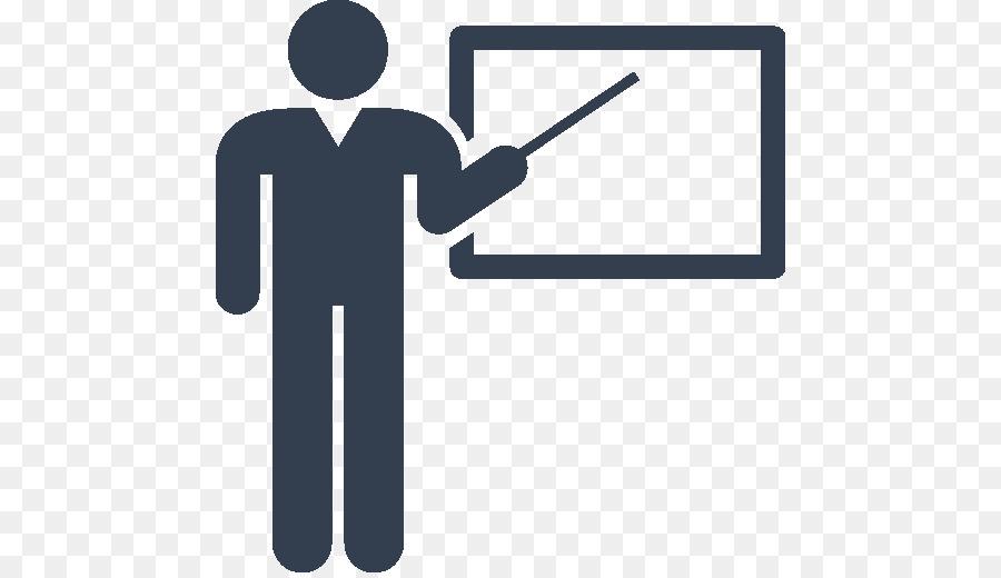 Teacher in front of board